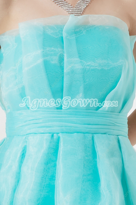 Charming Aqua Cocktail Party Dresses