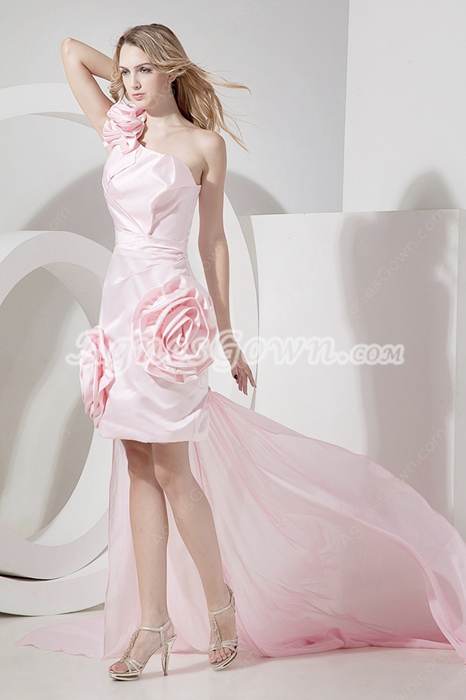 Best Pearl Pink Cocktail Dresses With Detachable Train