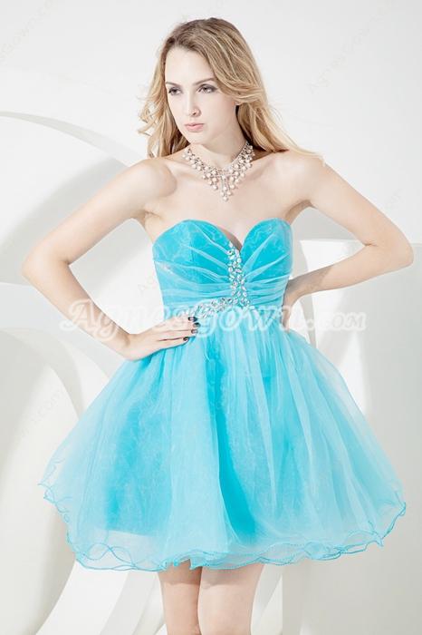 Best Auqa Blue Puffy Sweet Sixteen Dresses