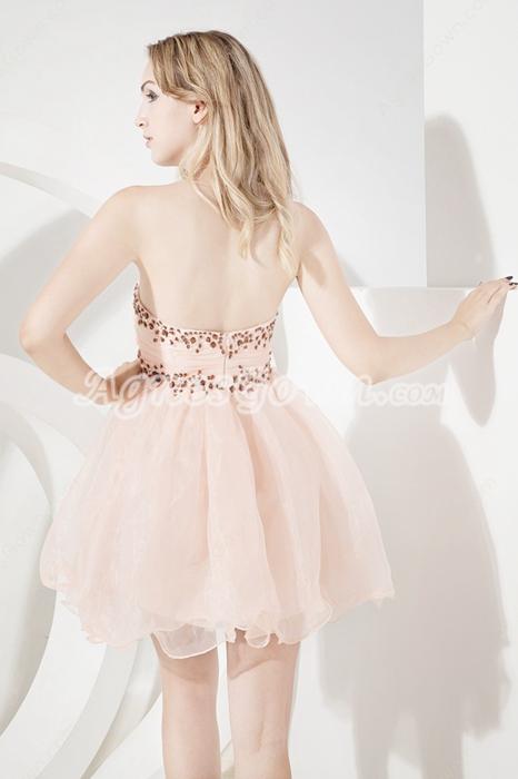 Cute Champagne Puffy Damas Dress