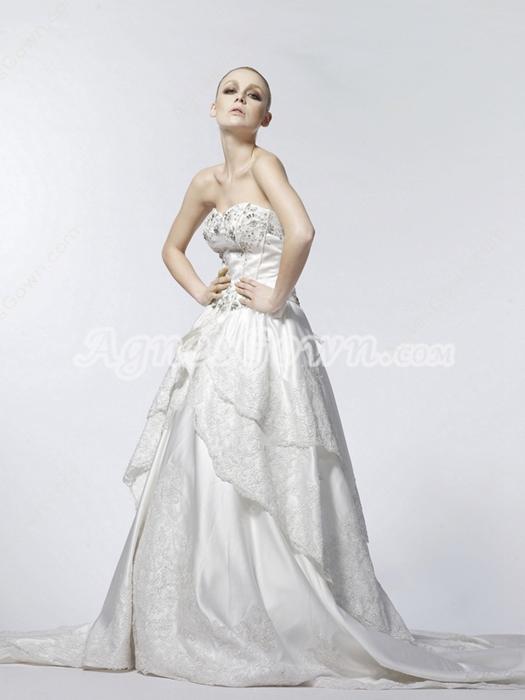 Gothic Wedding Dress With Basque Waist