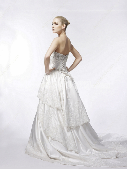 Gothic Wedding Dress With Basque Waist