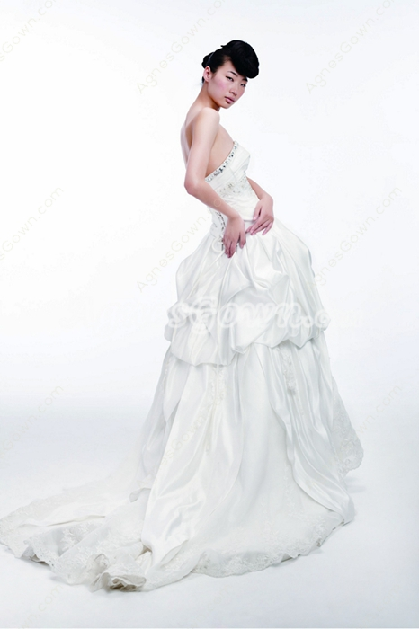 Retro Wedding Dress With Rhinestones