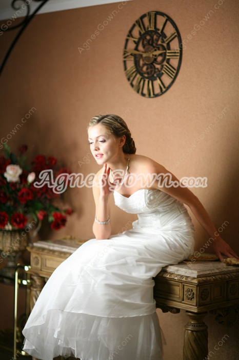 Hot Sale Strapless Sheath Coast Wedding Dresses