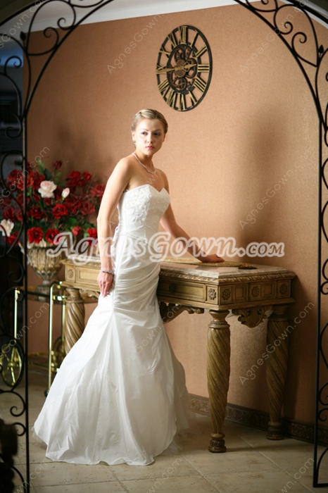 Hot Sale Strapless Sheath Coast Wedding Dresses