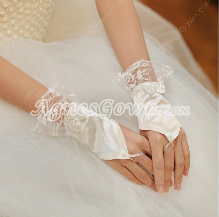 Wrist Fingerless Wedding Glove