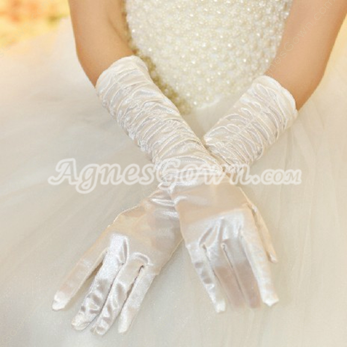 Fingertips Elbow Wedding Gloves