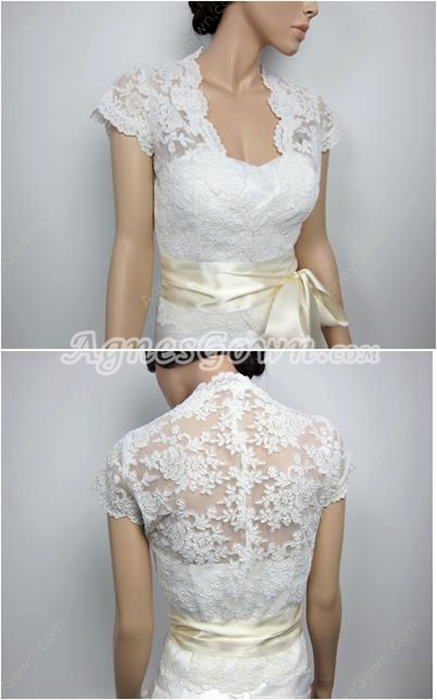Illusion Back Lace Jacket