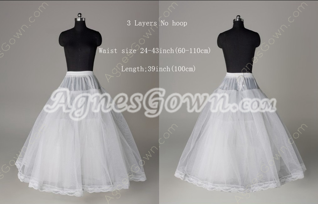 3 Layers Petticoats For Ball Gown Wedding Dress