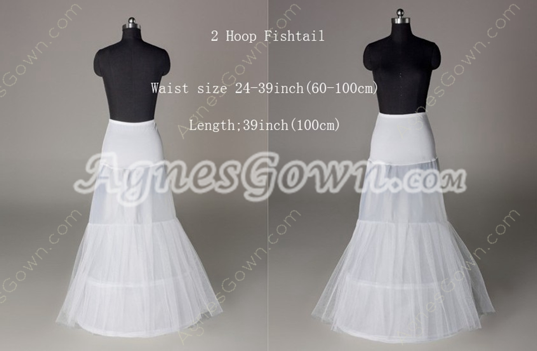 2 Hoop Fishtail Petticoats For Wedding Dress