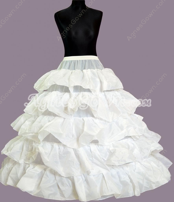 5 Tiered Ball Gown Petticoats