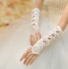 Unique Keyhole Fingerless Wedding Gloves