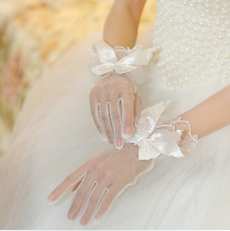 Perfect Fishnet Bridal Gloves