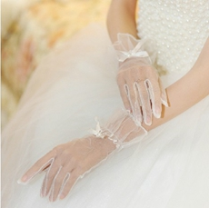Vintage Fishnet Bridal Gloves