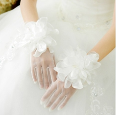 Organza Flower Gloves