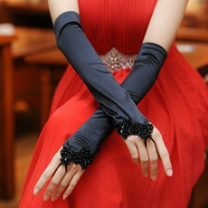 Black Opera Prom Gloves