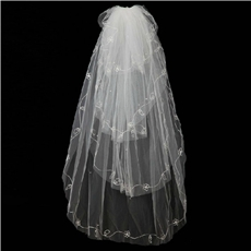 4 Layered Tulle Wedding Veil