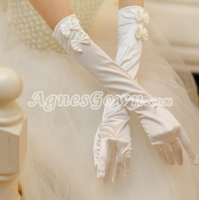 Cute Bowknot Bridal Gloves