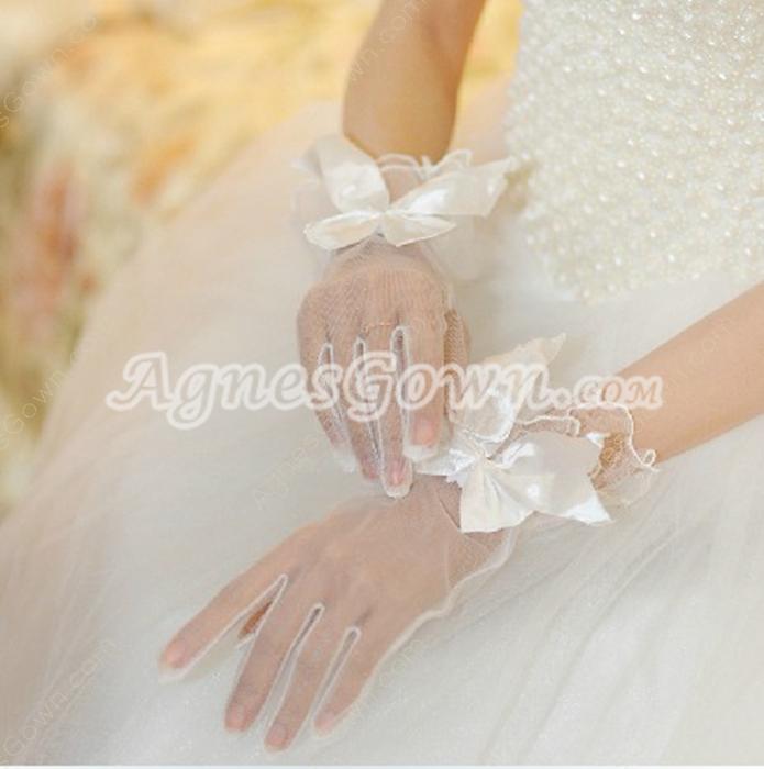Perfect Fishnet Bridal Gloves