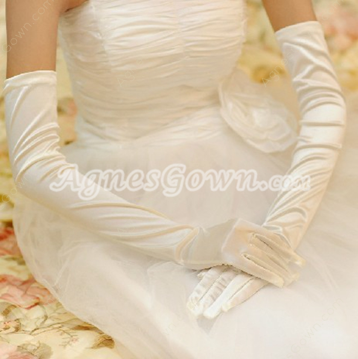 Long Bridal Gloves For Winter Wedding