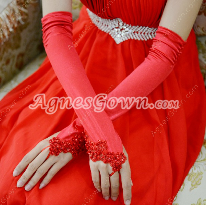 Red Opera Fingerless Gloves
