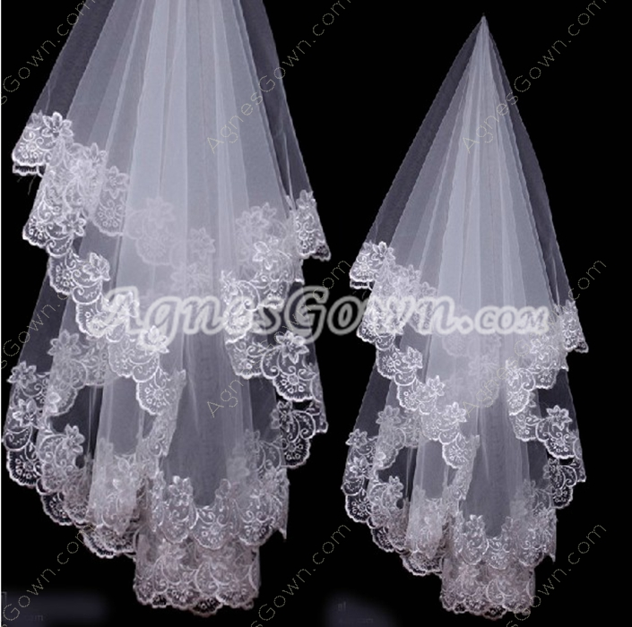 Mantilla Lace Edge Wedding Veil