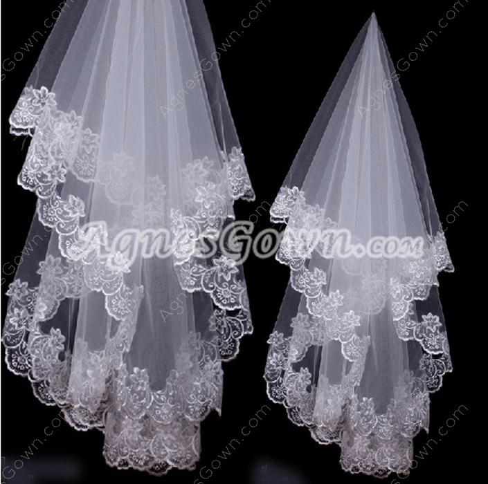 Mantilla Lace Edge Wedding Veil