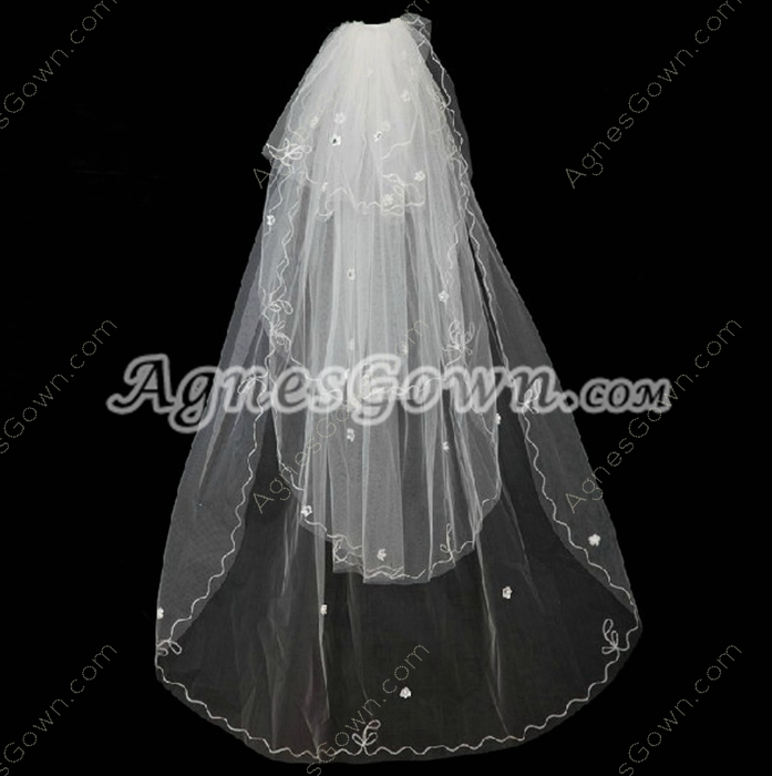 Gothic 4 Layered Wedding Veil