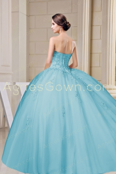 Exquisite Ball Gown Blue Quinceanera Dress