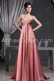 Exquisite Rustic Red Formal evening Dress With Ribbons