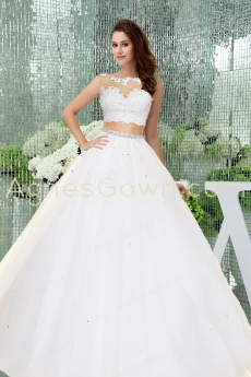 Stylish 2016 Two Pieces Quince Dress