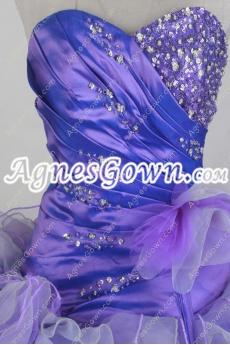 2016 Colorful Blue And Lavender Quinceanera Dress