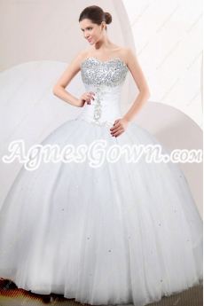 Beaded Bodice Princess Quinceanera Dress