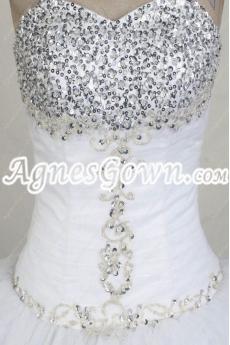 Beaded Bodice Princess Quinceanera Dress