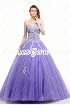 Beautiful Lavender Princess Quinceanera Dress