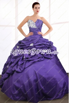 Breathtaking Purple Blue Quinceanera Dress Corset Back