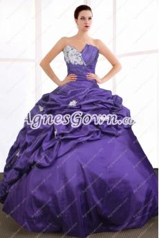 Breathtaking Purple Blue Quinceanera Dress Corset Back