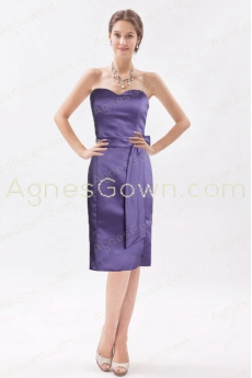 Elegance Knee Length Lavender Wedding Guest Dress