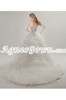 Fashionable High Low Beach Wedding Dress
