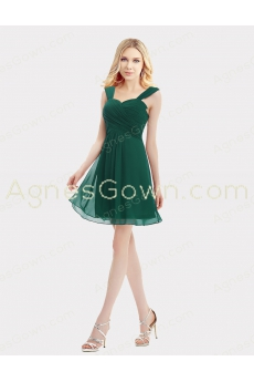 Hunter Green Short Graduation Dress