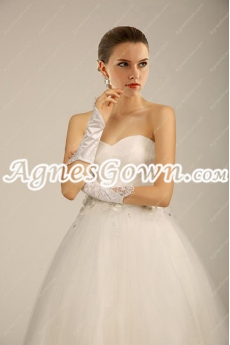 Impressive Princess Wedding Dress With Handmade Flowers