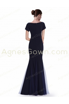 Short Sleeves Mermaid Mother Of The Bride Dress