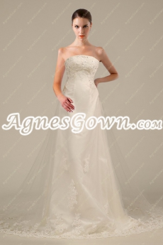 Simple A-line Lace Wedding Dress