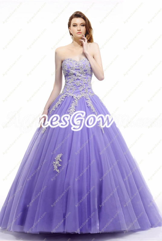 Beautiful Lavender Princess Quinceanera Dress