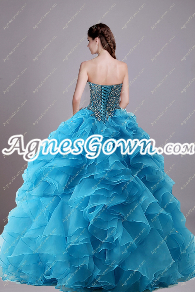 Classy Ball Gown Blue Quinceanera Dress