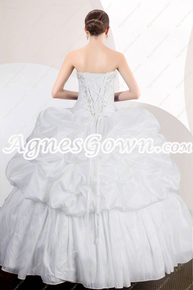 Classy White Ball Gown Quinceanera Dress With Jacket