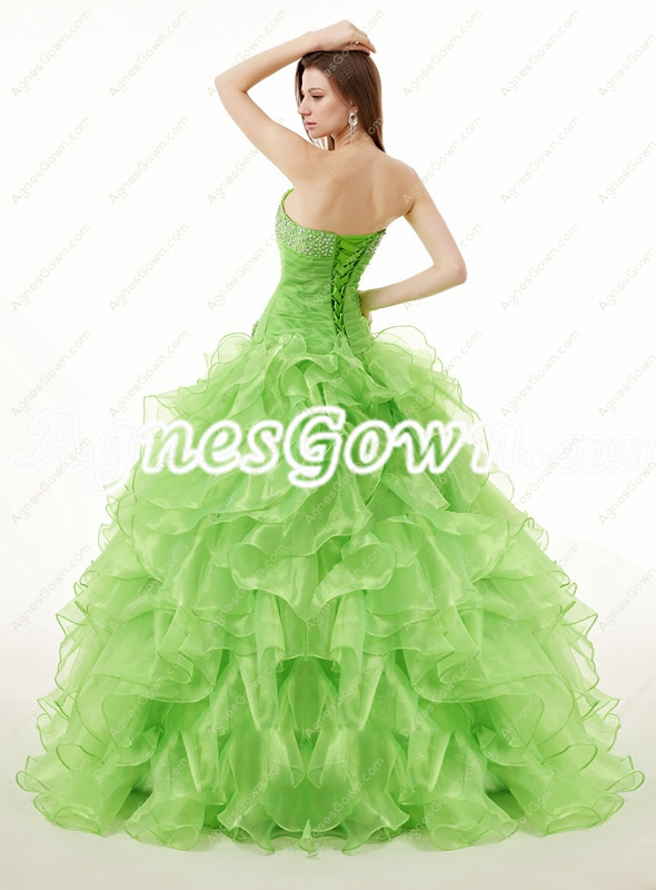 Cute Green Quinceanera Ball Gown Dress