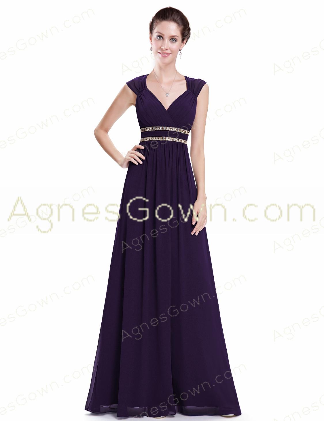 Eggplant Purple Long Prom Dress Keyhole Back