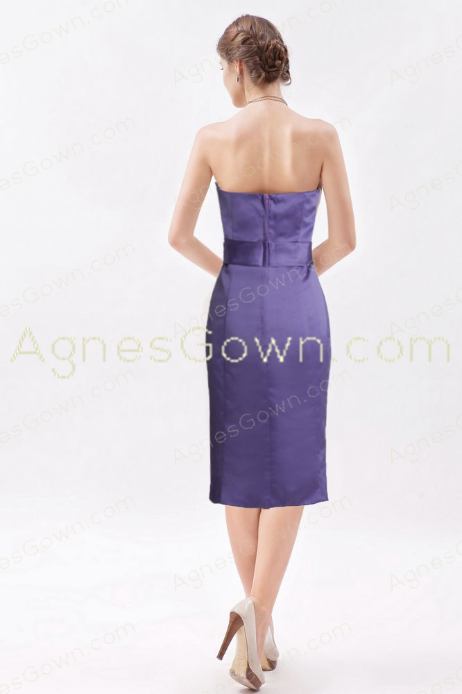 Elegance Knee Length Lavender Wedding Guest Dress