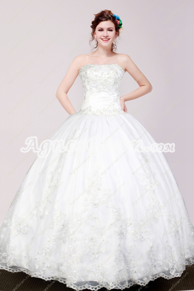 Lovely Ball Gown White Quinceanera Dress With Lace